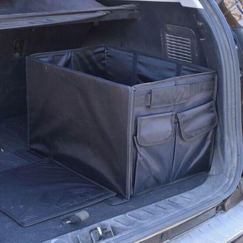 ~汽車後備箱可摺疊收納箱~牛津布~50^~30^~30cm~1個  組~車內整理箱儲物箱雜