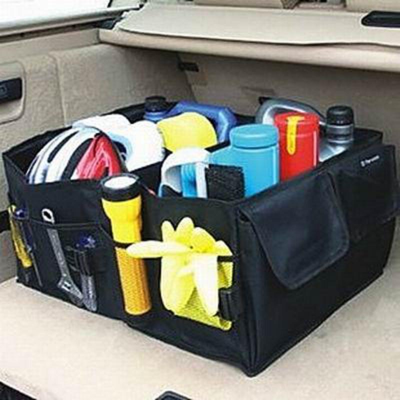 ~汽車後備箱可摺疊儲物箱~牛津布~56~39~26.5cm~1個  組~整理箱垃圾桶收納置
