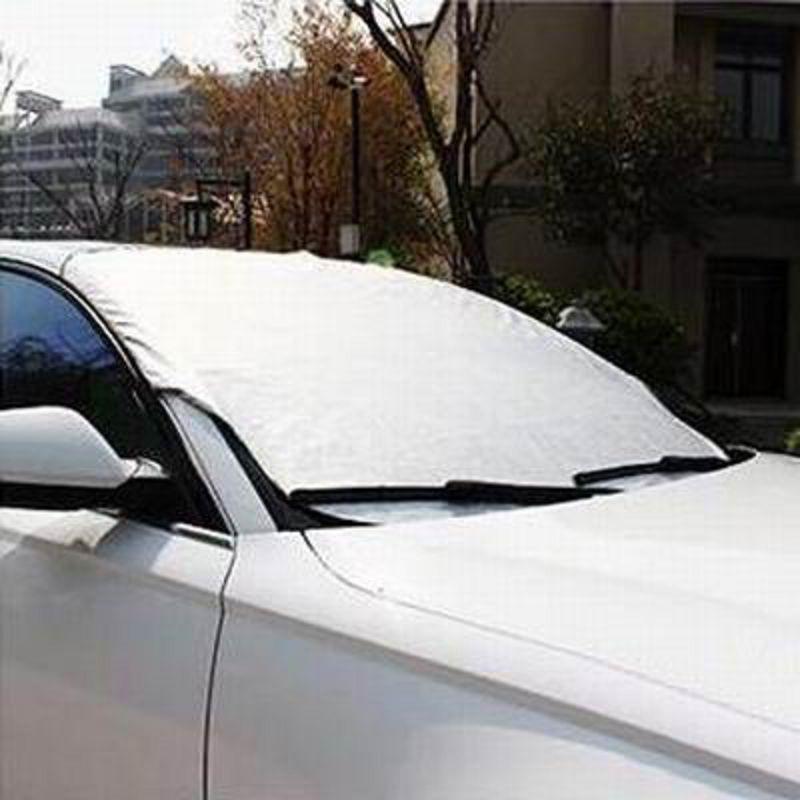 【車用前擋遮陽擋-雙層加棉-100*147cm-1套/組】前擋玻璃罩風擋防霜防雪防曬隔熱板-527008