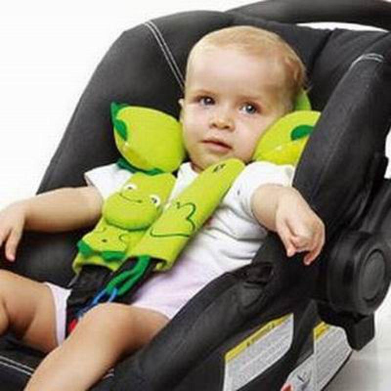 【嬰兒童安全座椅護頸枕-兩面可用-適于0-12個月-1個/組】旅行睡覺防偏頭枕頭寶寶U型枕-527009
