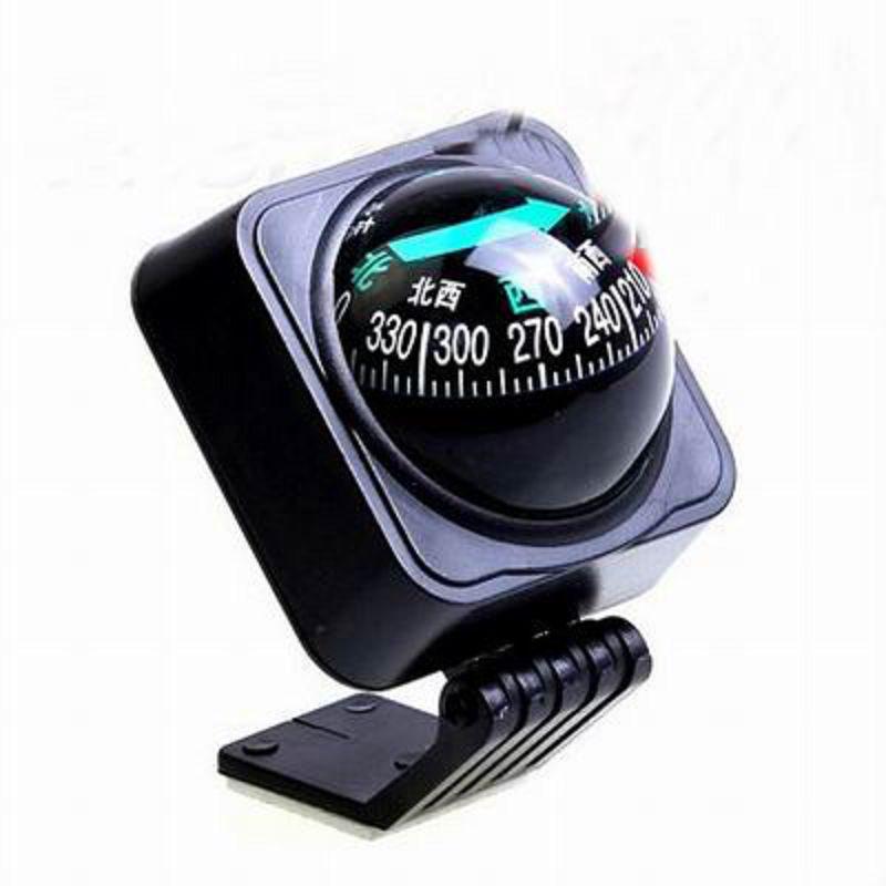 【儀錶台座式指南球-5.3*5.5*6.5cm-2套/組】可粘貼可調節角度座式車用指南球指南針-527009