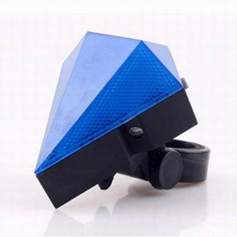 【自行車鐳射尾燈-鑽石形充電款-1個/組】單車防水尾燈安全夜騎警示燈-527053