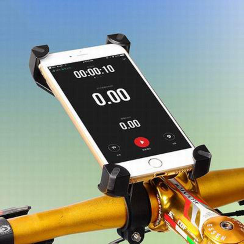 【四角勾爪車載手機支架-PH666-適合3.5-7寸-1套/組】山地公路摩托電動車手機架導航支架-527058