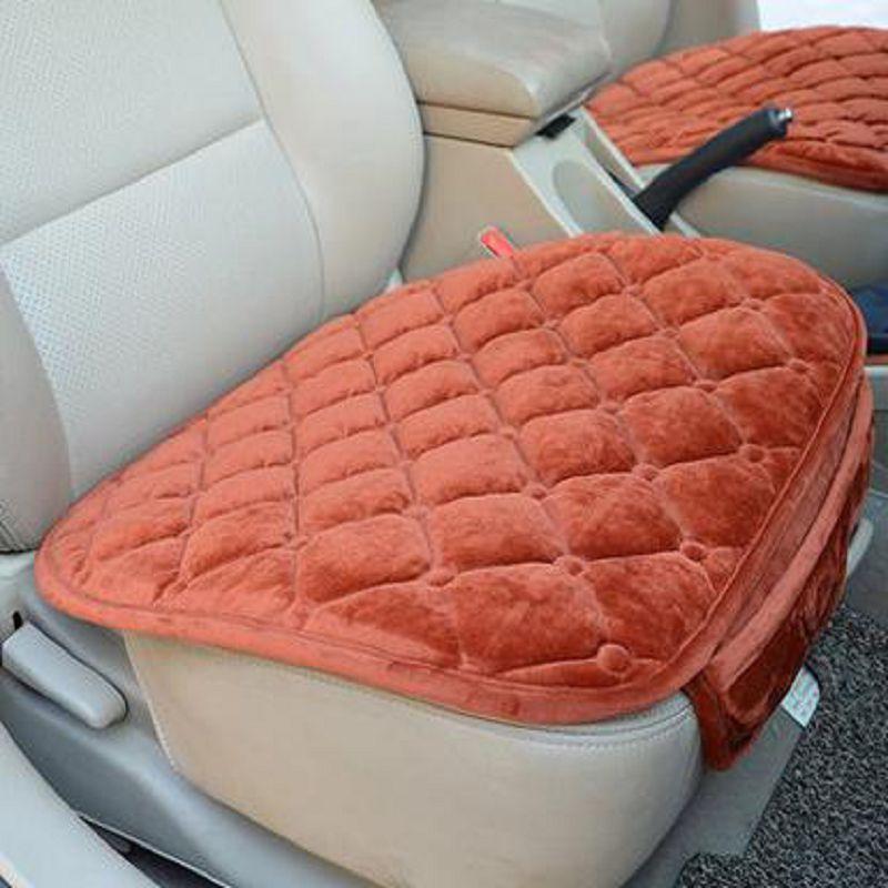 ~汽車坐墊~ ~天鵝絨~49~52CM~1個  組~無靠背毛絨 四季 棉質普通坐墊簡約單片