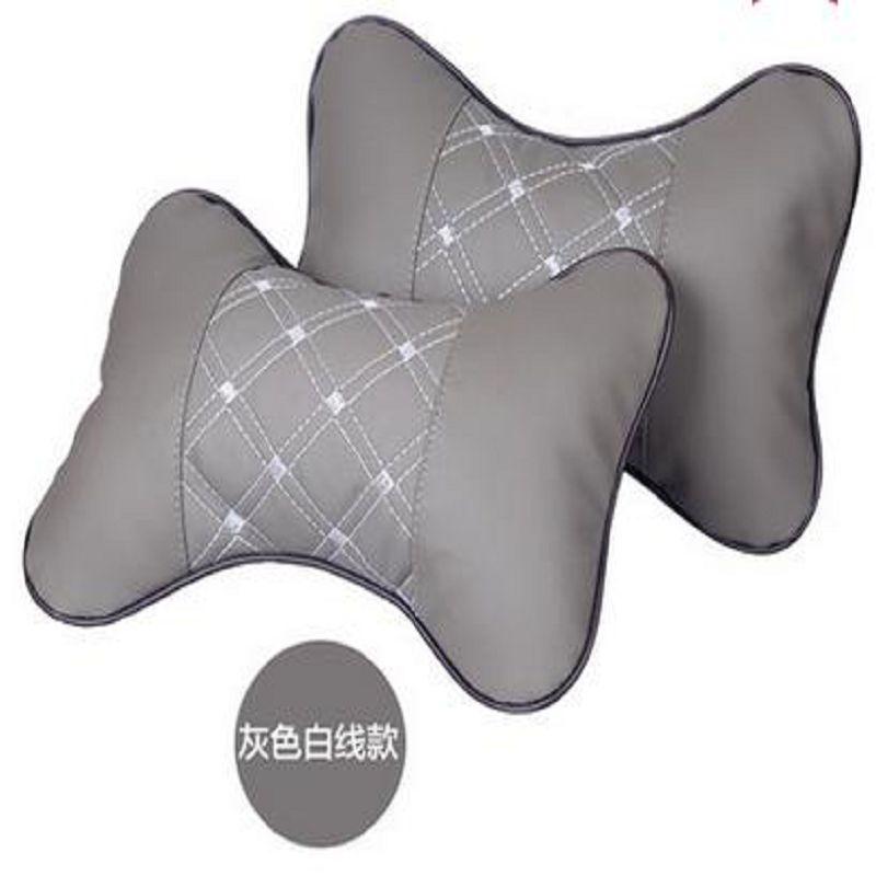 ~汽車頭枕護頸枕~丹尼皮~27~19~9CM~1對  組~汽車護頸枕一對四季車枕頭靠枕車用
