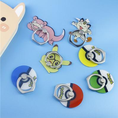 【手機指環支架-寶可夢-2個/組】新款創意皮比卡丘精靈球粘貼式寶可夢Pokemon go蘋果-58001