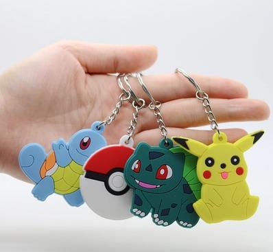 ~寶可夢鑰匙扣鏈圈~5個  組~寶可夢go神奇寶貝口袋妖怪寵物小精靈球比皮卡丘小掛件~58