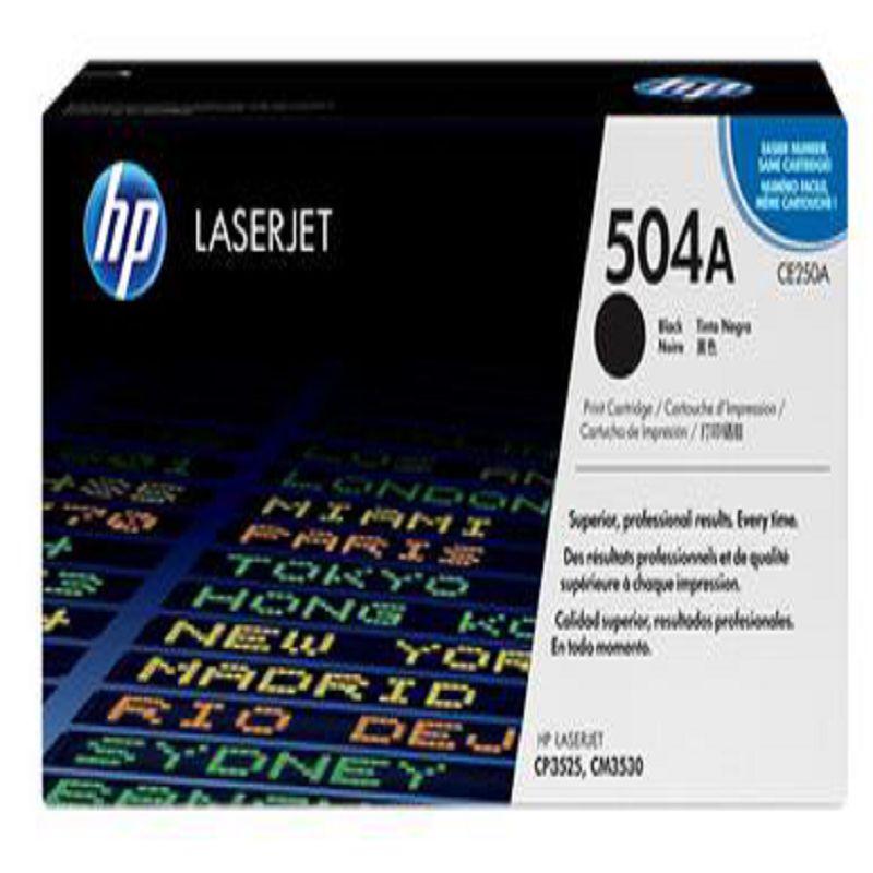 【原裝正品 惠普 504A 黑色硒鼓-1個/組】適用於 CE250A HP CP3525 CM3530 250A 250-586001