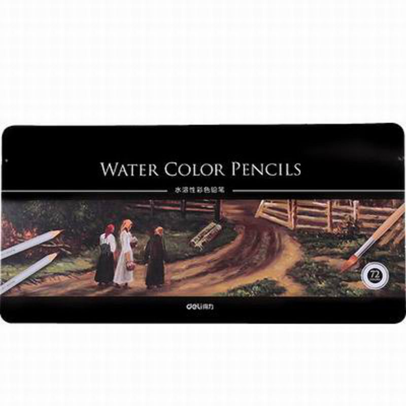【72色鐵盒水溶性彩色鉛筆-6524-2B-72支/盒-1盒/組】繪畫鉛筆秘密花園水彩筆學生用品-586003