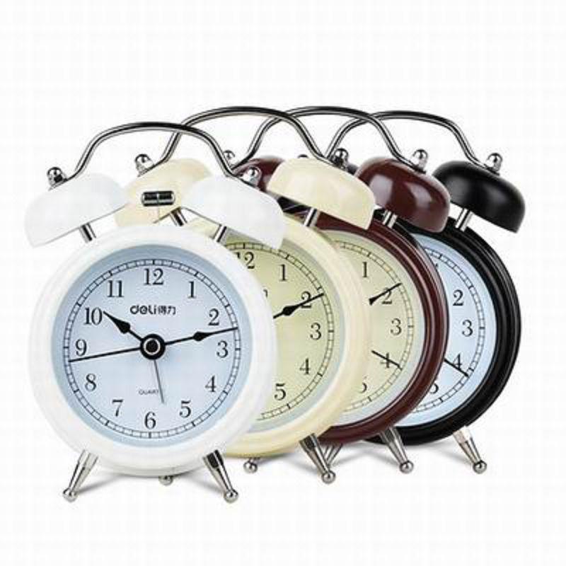 【雙鈴夜光燈鬧鐘-9024-8.3*5.2*11.7cm-1套/組】鬧鐘鬧鈴靜音設計夜光功能(不含5號電池)-586003