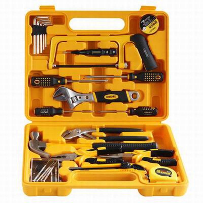 【25件套多功能組合工具箱-3702-34*27*7cm-25件/套-1套/組】辦公家用百寶箱可?式工具箱-586003