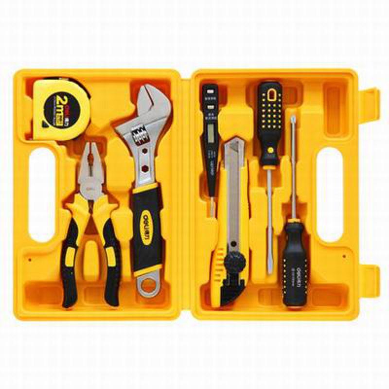 【7件套多功能組合工具箱-3700-24.5*16.5*7cm-7件/套-1套/組】辦公家用百寶箱可?式工具箱-586003