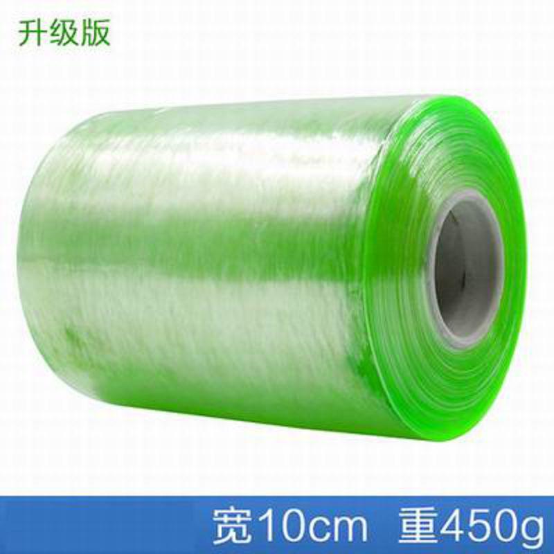 【PVC綠色繞線膜-升級版-寬10cm*450g/卷-6卷/組】電線膜纏繞膜透明工業自粘包裝膜捆紮膜-586016