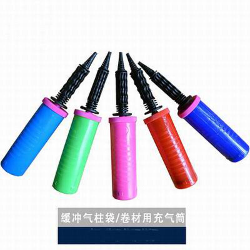 【充氣工具-手推/腳踩-兩款可選-3個/組】氣柱袋 氣泡柱 緩衝袋充氣專用工具(顏色隨機)-586016