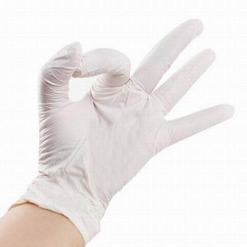 【一次性白色丁晴手套-50雙/盒-1盒/組】耐油耐酸耐鹼美容美髮防護家務清潔食品防護手套-586036