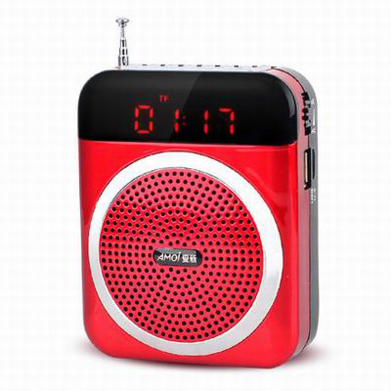 【插卡廣場舞播放機-V88-標配-1套/組】便攜老人隨身聽音箱小音響mp3外放收音機(含電池)-586060