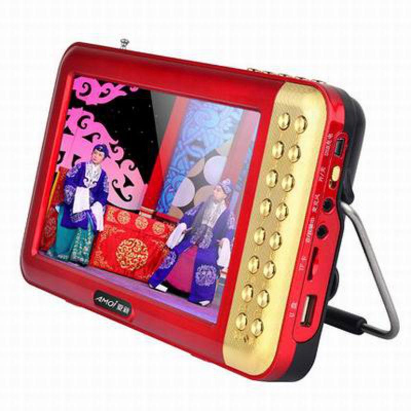 【7寸多功能看戲機-V707-升級版-1套/組】老人看戲唱戲機高清視頻收音機音樂播放機(含電池)-586060