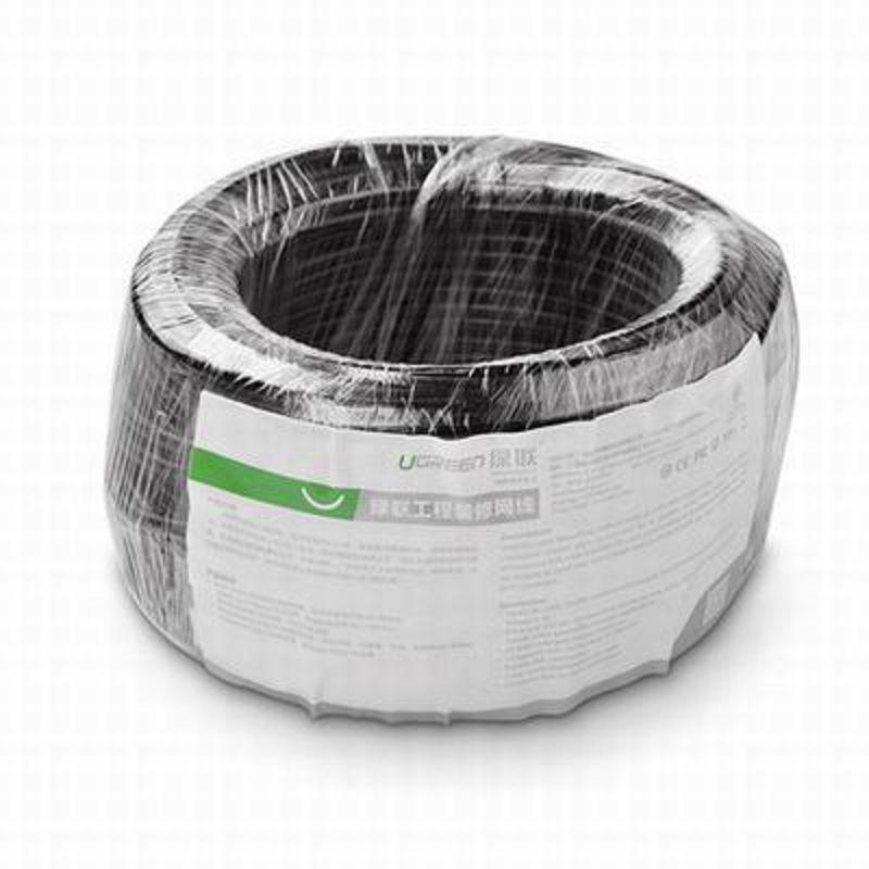 【超五類百兆網線-24AWG無氧銅芯-50米/卷-1卷/組】8芯雙絞鋁箔遮罩100Mbps網路線(長可訂)-586062