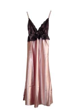 【吊帶睡衣-模擬絲-均碼-1件/組】夏季裝模擬絲鑽吊帶裙 女士睡袍性感睡衣-716002