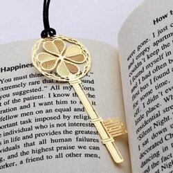 【婚禮回禮贈品-幸運鑰匙款書簽-金屬-10個/組】幸運鑰匙款創意鏤空金屬書簽新年禮物-726001