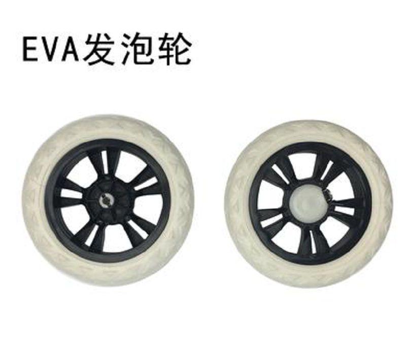 【購物車輪子-EVA發泡輪-直徑16CM-2個/組】購物車輪靜音發泡輪爬樓水晶輪橡膠輪-726002