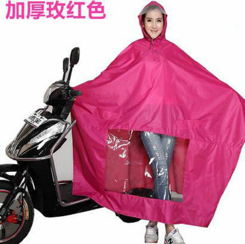 【雨衣-加厚款無鏡套-單人-牛津布-1件/組】摩托車雨衣電動車雨衣成人加大加厚雨披男女士單人-726003
