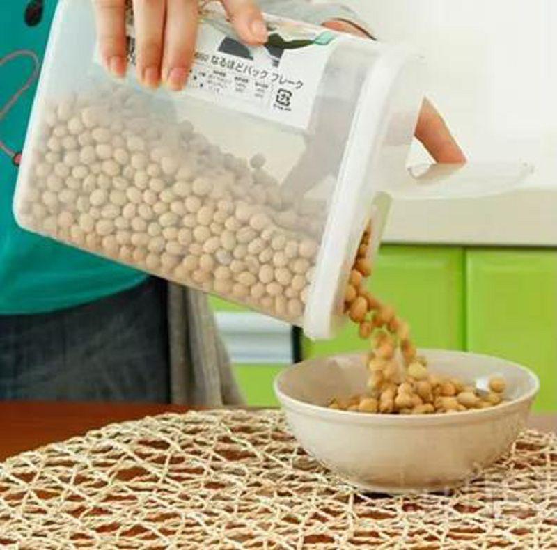 【食品密封盒-PP-2.1ML/2.5ML-1個/組】廚房密封罐 食品密封盒雜糧儲物罐 乾貨保鮮盒塑膠-726004