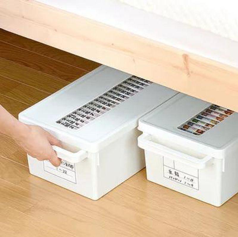 【光碟盒-PP-小號41.3*16.7*16.5cm-1個/組】碟片盒CD盒DVD收納整理箱創意大容量PS4盤收納盒-726004