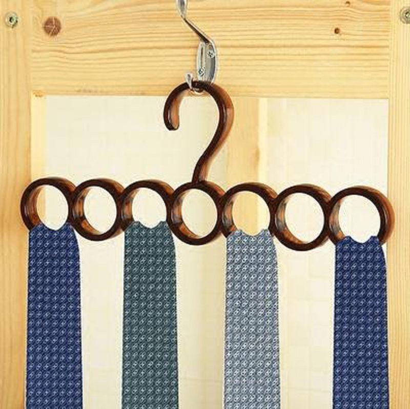 【多功能衣櫃領帶架-PS-32.4*13.1CM-2個/組】多用衣架圍巾掛絲巾架 收納架腰帶掛架-726004