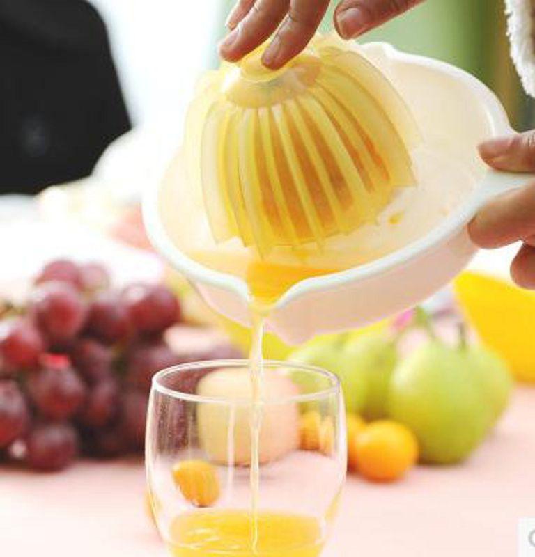 【手動榨汁器-PP-18.9CM內徑9.5CM-1個/組】迷你榨橙器檸檬汁器簡易榨汁機 榨汁盒壓-726004