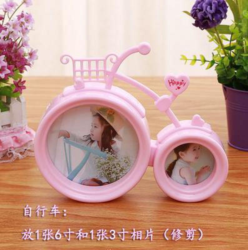~兒童相框~自行車款式~1個  組~相框兒童歐式掛牆婚紗影樓相架相片擺台~727001