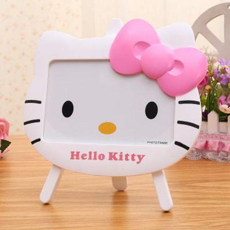 ~KT貓蝴蝶結相框~6寸~1個 組~可愛粉嫩相框5寸6寸7寸寶寶相框兒童卡通擺台桌面相架~