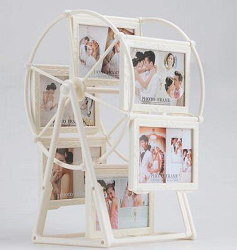 【摩天輪相框擺台-5寸放12張-1個/組】創意兒童相片框個性大風車相冊架婚紗相架組合-727001