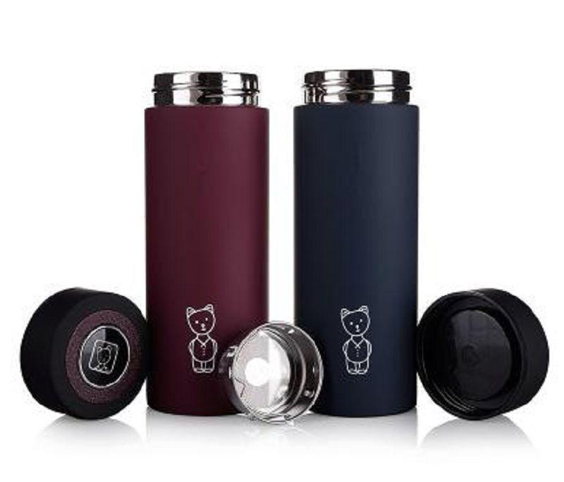 【保溫水杯-雙層不銹鋼-尺寸18.5*6.3CM-1個/組】定制廣告杯禮品杯商務茶杯-727006