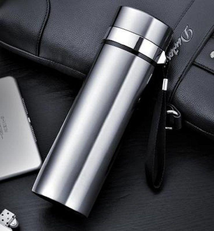 【保溫杯-304不銹鋼-450ML-1個/組】304不銹鋼保溫杯廣告杯禮品杯吊帶泡茶杯直身杯印刻LOGO-727006