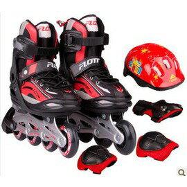 溜冰鞋兒童 套裝 旱冰鞋直排男 輪滑鞋可調女 滑冰鞋 -7801001