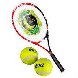 網球拍 初學/中級 男女通用 送2個球-7801001