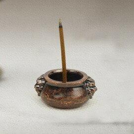 【香爐-銅獅耳】指尖銅香爐 時尚辟邪小香爐 鍍紫銅獅耳爐線香 檀香 臥香 香插-7501002