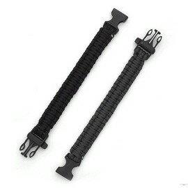 戶外求生手工編制逃生繩 安全尼龍傘繩手鏈 可拆開當繩子用帶口哨-7601001