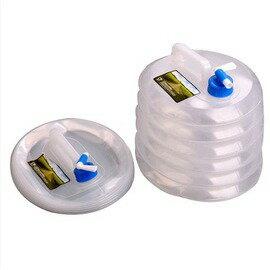 戶外野營旅行遊自駕遊車載用可攜式可壓縮多用途大容量食品級儲水桶-7601001