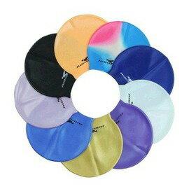 男女士防水純彩色混色矽膠沙灘防曬游泳帽 老少通用款-7601001