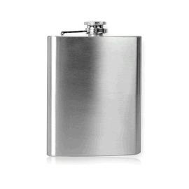 高檔精緻隨身可?式加厚不銹鋼光面酒壺 6oz-7601001