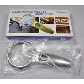 【放大鏡-4倍】老人用品 閱讀用放大鏡 帶燈LED燈讀書看報 掌上型光學玻璃-7801006