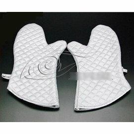 【隔熱手套-優質棉-銀色-大號】高級銀色微波爐手套 優質棉隔熱手套 高溫烘焙手套工具(大號:38*18cm)2只/包-8001001
