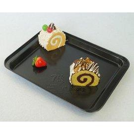 【不粘烤盤-鐵制-A4淺四方盤】烘焙工具 蛋糕模具 烤箱用 做蛋糕的工具(烤盤24*18*2cm)-8001001