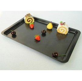 【不粘烤盤-鐵制-A5淺長方盤】烘焙工具 蛋糕模具 烤箱用 做蛋糕的工具(烤盤37*26.5*1.5cm)-8001001