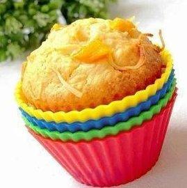【迷你蛋糕模-矽膠-圓形-6.5*3cm-10個/組】布丁杯 瑪芬蛋糕杯DIY 烤箱微波爐用(上徑6.5下徑4.4高3cm)-8001001