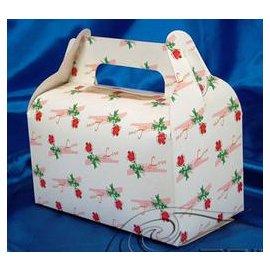 【小手提盒-一枝花-300g銅版紙-20個/組】蛋糕盒 西點盒 點心盒(16.2*9*15.5cm(含手提)),20個/組-8001001