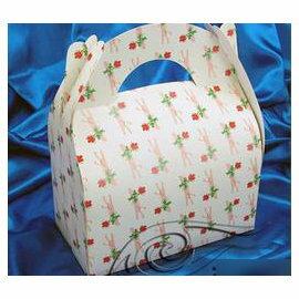 【大手提盒-一枝花-300g銅版紙-10個/組】蛋糕盒 西點盒 點心盒(21.7*12*24.5cm(含手提)),10個/組-8001001