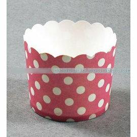【蛋糕紙杯-紅色波點-15包/組】高溫烤杯子 馬芬蛋糕紙杯烘焙模具工具 (上口徑7*底直徑6*高5.5cm) 15包/組(可混選)-8001003